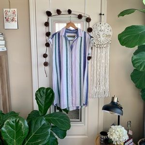 Old Navy Striped T-Shirt Dress with Slip